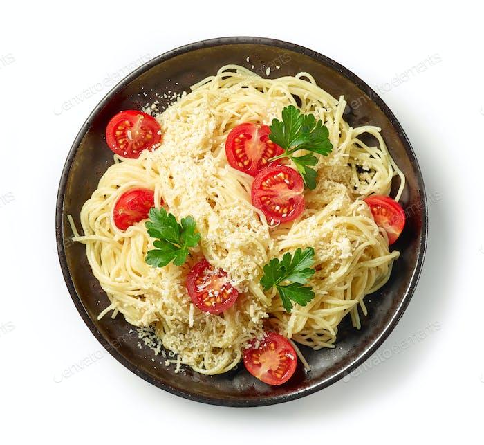 plate of spaghetti pasta