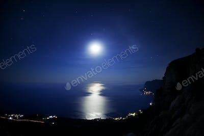 Seascape at night.