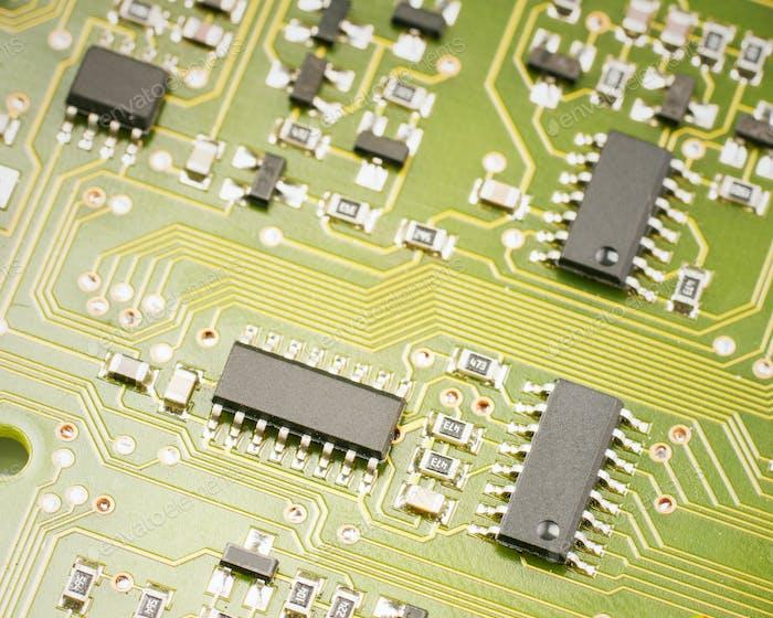 elektronisch Komponenten auf der Hauptplatine