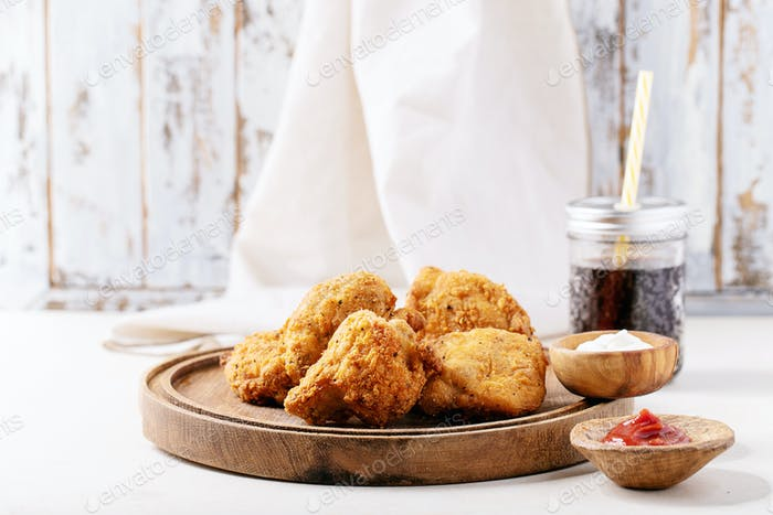 Crispy fried breaded chicken