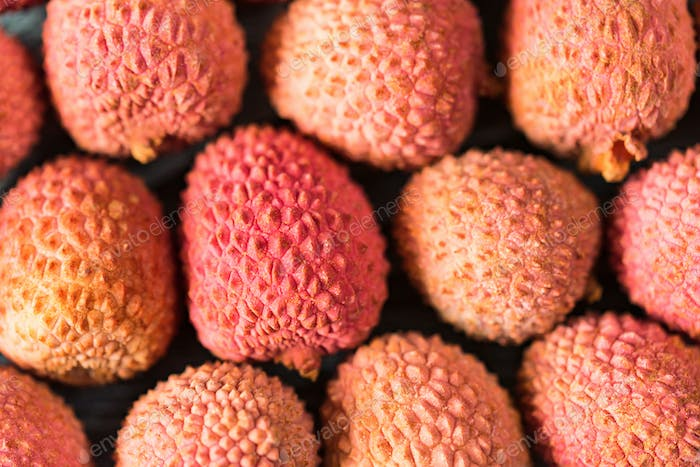 Fresh lychee background