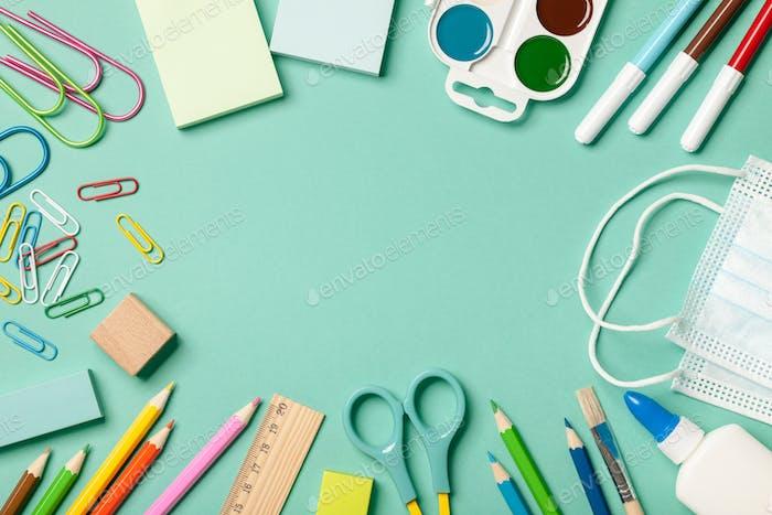 School supplies background