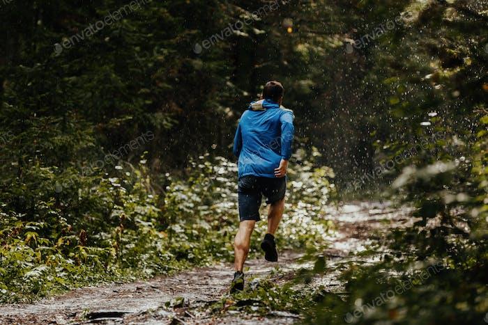 Male runner athlete