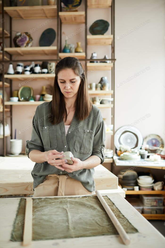 Female Potter in Studio