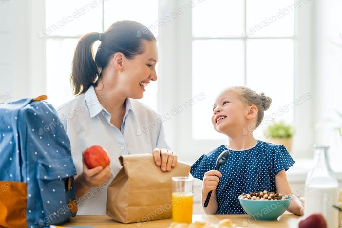 Gesundes Essen zu Hause.