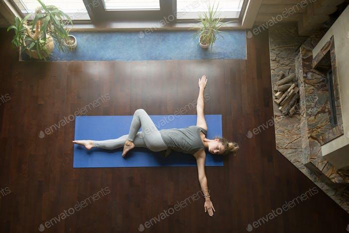 Yoga at home: Revolved Abdomen Pose