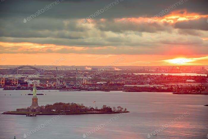 New York Harbor, New York, USA