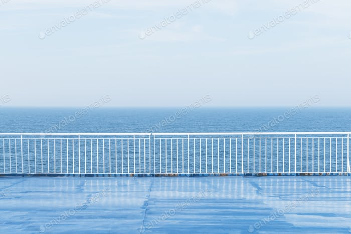 Blue ocean with clear sky from cruise ship