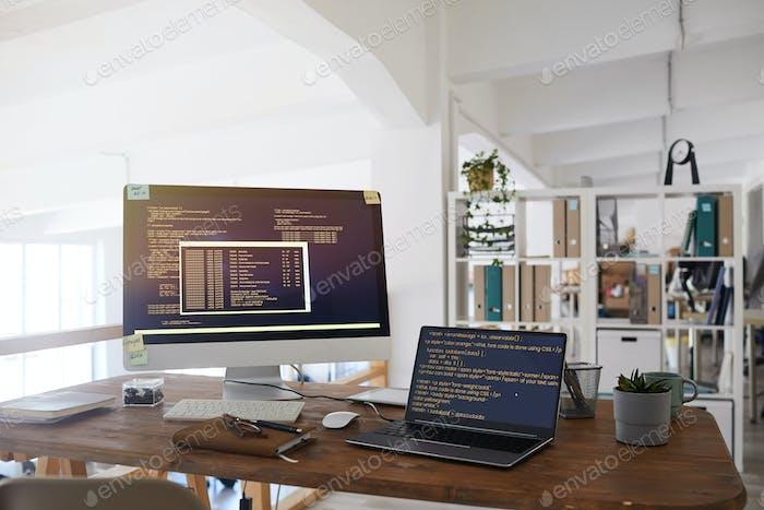 Hintergrund des IT-Entwicklungsbüros