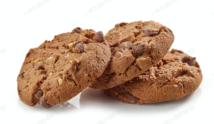 Chocolate and nut cookies