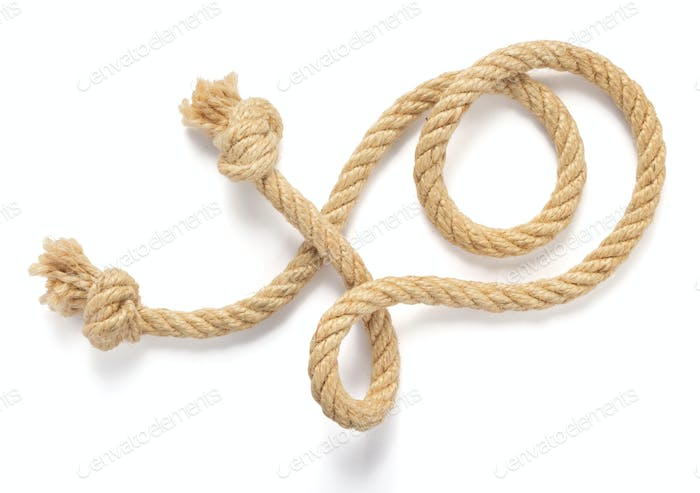 ship rope isolated on white