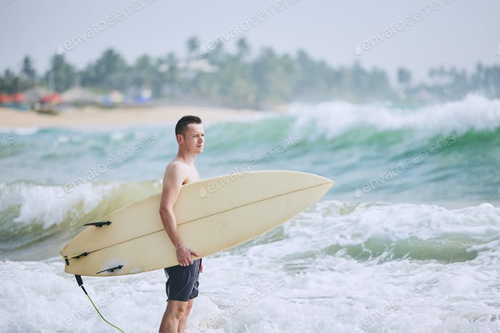 Portrait of surfer