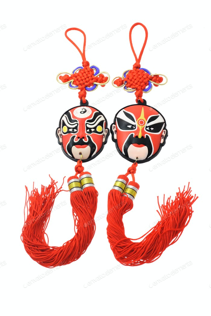 Chinese opera mask ornaments