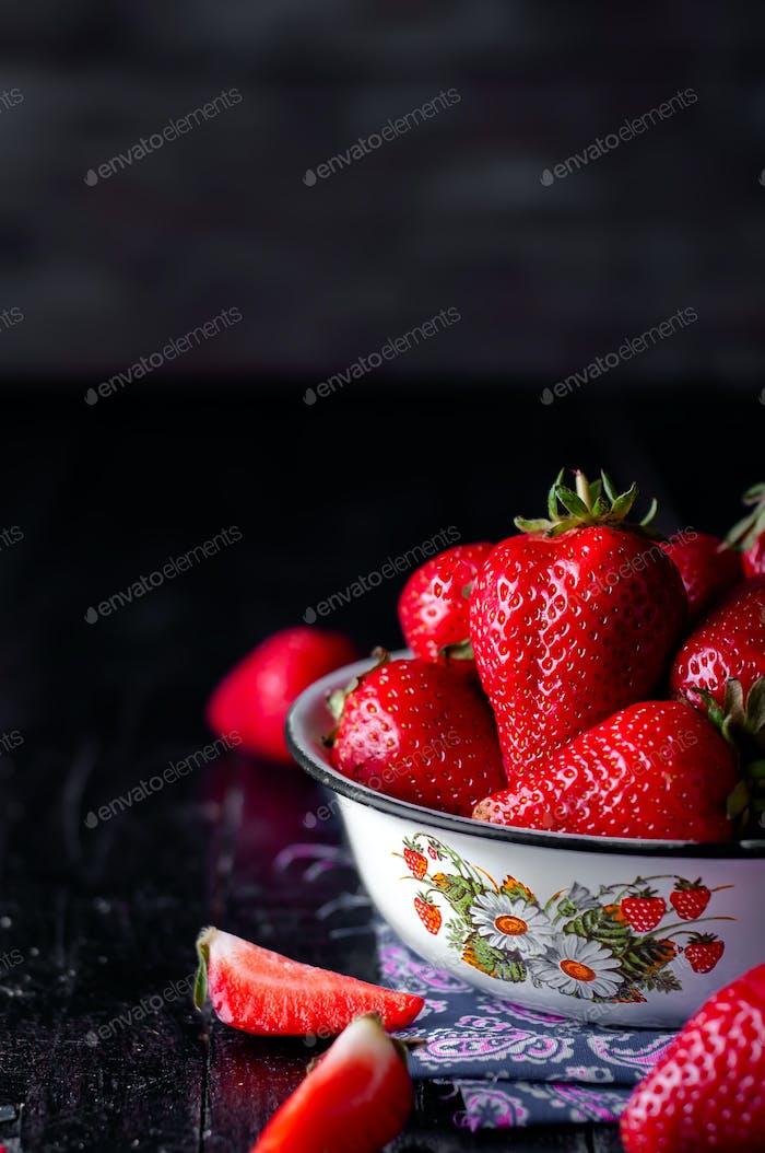 Fresh new image of strawberries