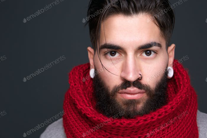 Trendy modern man with beard