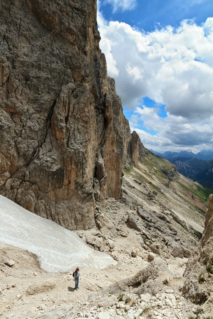 hike in Dolomites mount