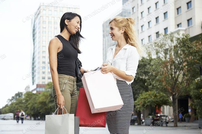 Gossiping young women