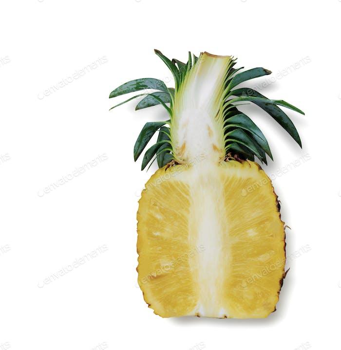 Pineapple cut of half