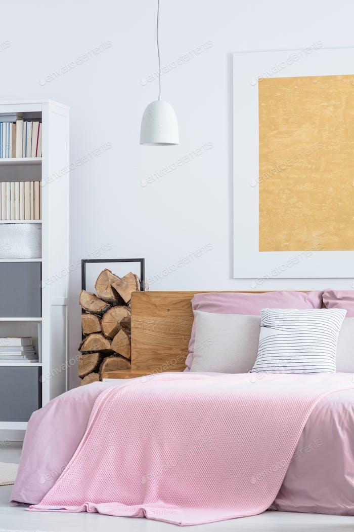 Simple pink bedroom