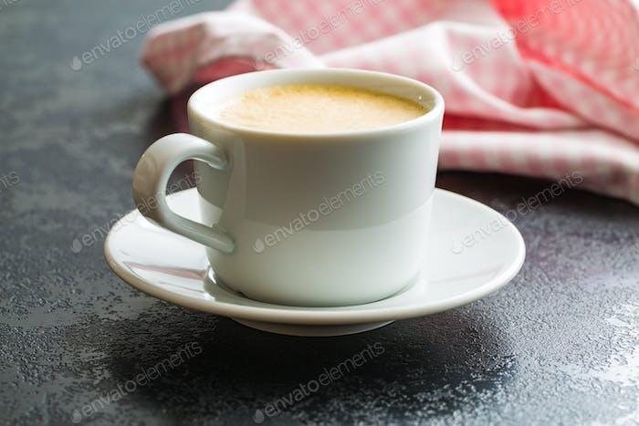 Hot coffee cappuccino.