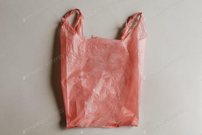Red hazardous plastic bag design