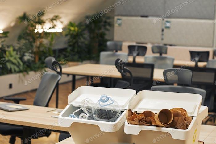 Waste Sorting Bins in Office