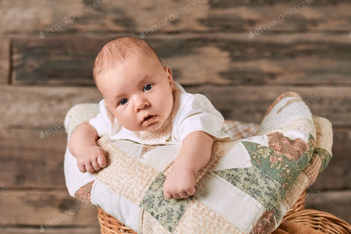Adorable caucasian infant
