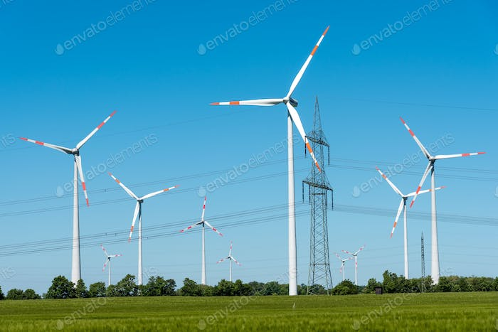 Power supply lines and wind turbines