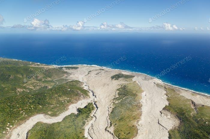 Los flujos de cenizas en el volcán Soufriere Hills, Montserrat