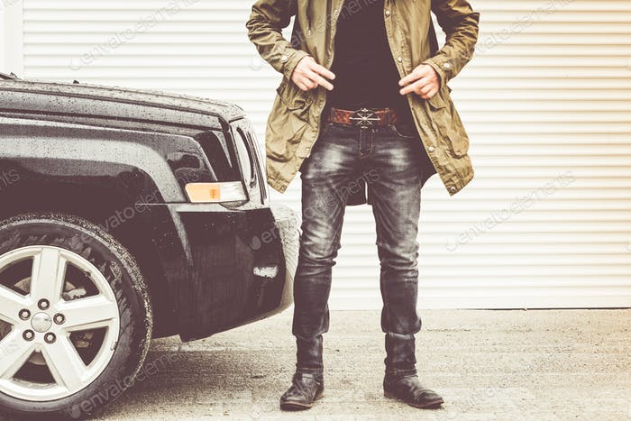 Brutal city fashion black jeans and boots