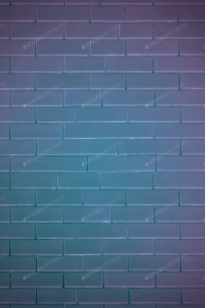 Brick wall in neon light