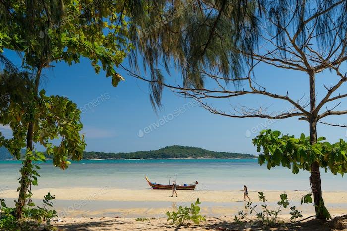 Exotic Bay of Rawai in Phuket island