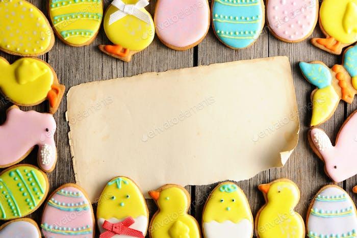 Ostern hausgemachte Lebkuchenkekse