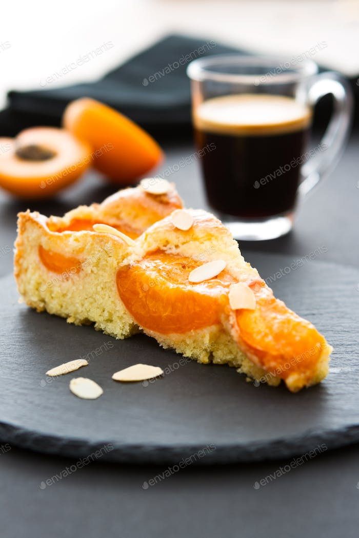 Apricot Cake with Coffee