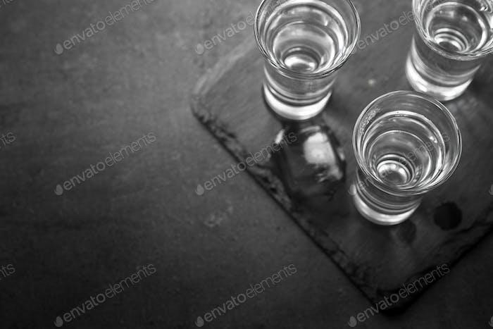 Vodka shot drink.