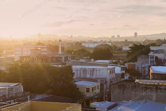San Salvador at sunset