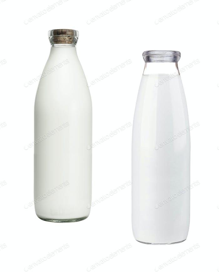 Two milk bottles