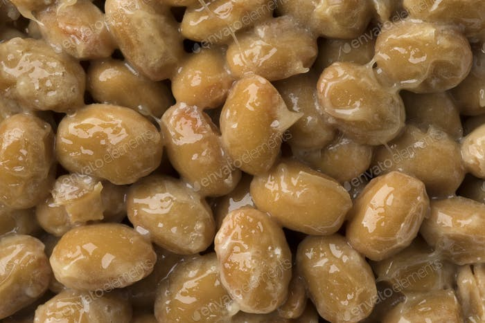 Japanese fermented soybeans called natto