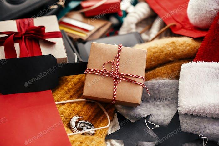 Christmas shopping and seasonal sale