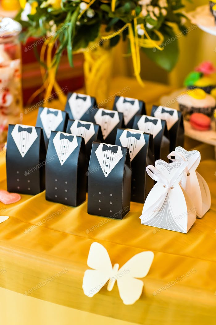 Hochzeit bonbonniere für Gäste