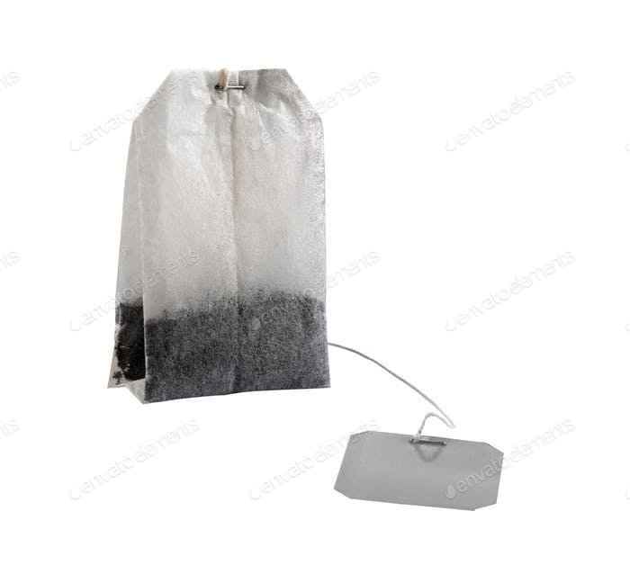 Tea bag isolated on a white background