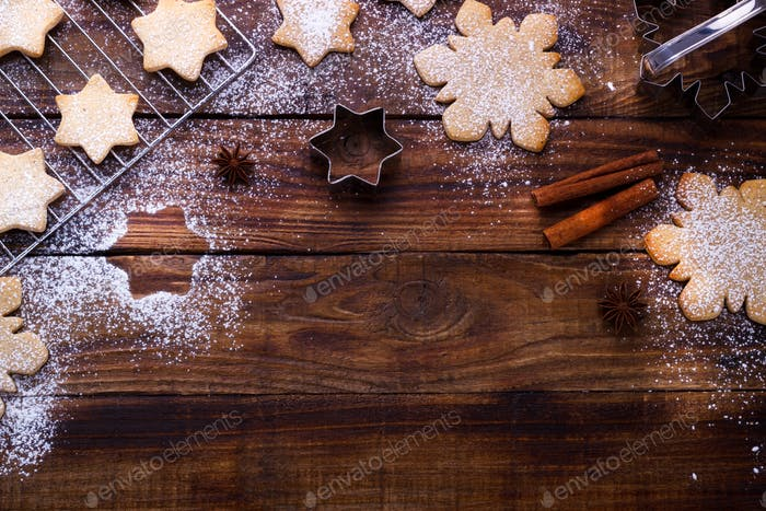 holiday baking background