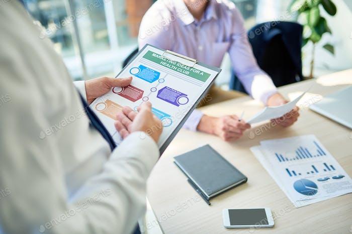 Businessman Presenting Marketing Strategy