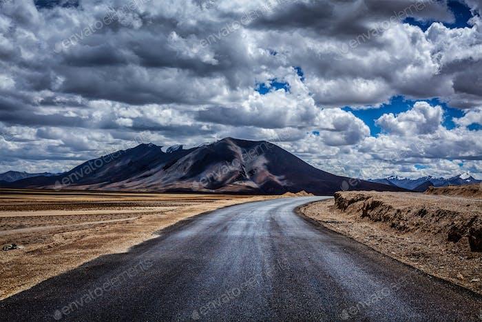 Manali-Leh Autobahn. Ladakh, Indien