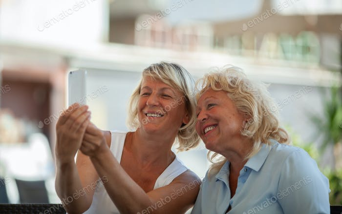 Moms making a selfie