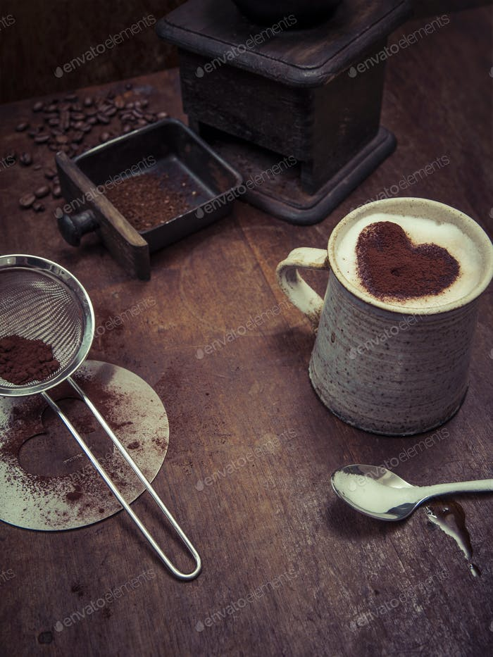 Rustic coffee background