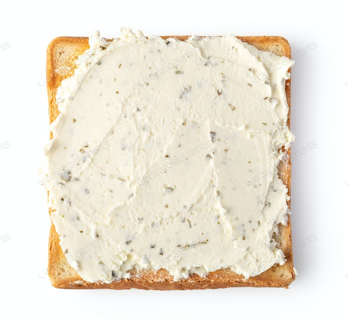 Toast Brot mit Frischkäse
