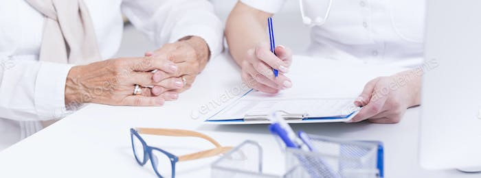 Doctor conducting a medical interview