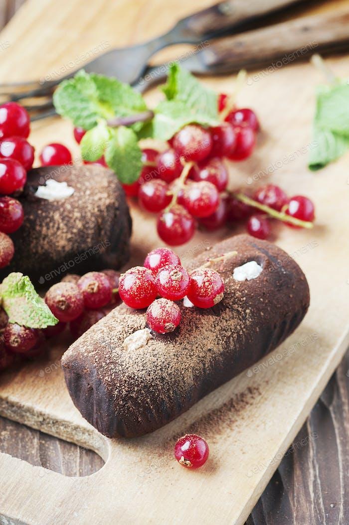 Traditionelle russische Kuchen Trüffel Kartoffeln