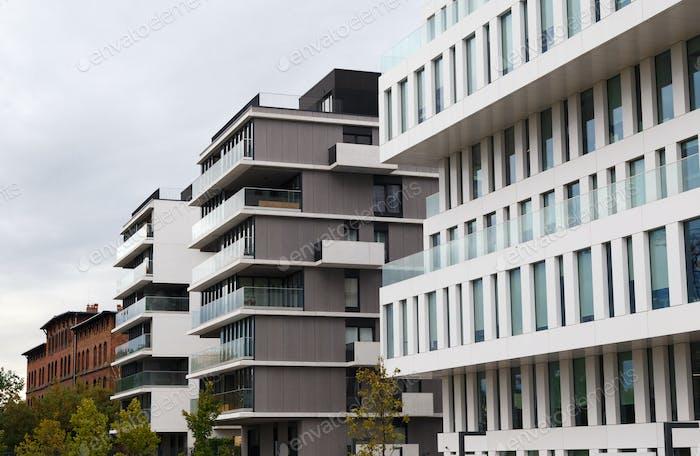 Modern luxury apartments buildings